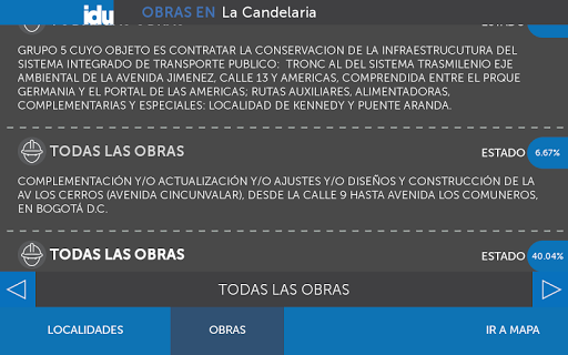 Visor de Obras IDU Bogotá app (apk) free download for Android/PC/Windows screenshot