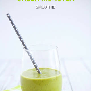 Kid Friendly Green Monster Smoothie.