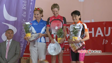 Photo: Le podium VF2 avec Claudie que l'on connait depuis la Thailande et qui termine en 3h43m8s