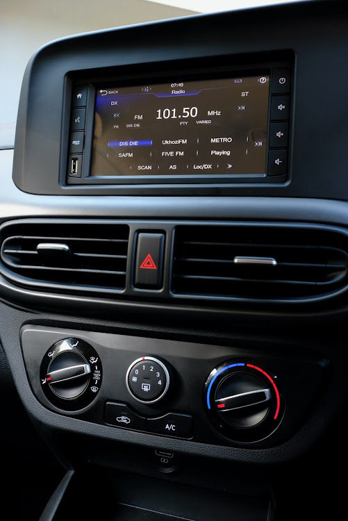 A 6.2-inch touchscreen infotainment system is standard.