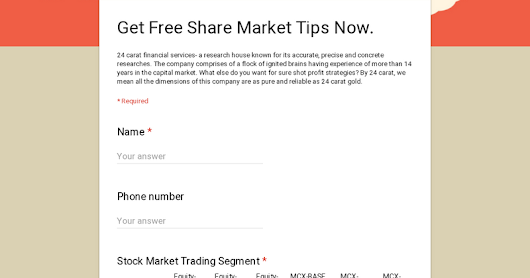 Get Free Share Market Tips Now.