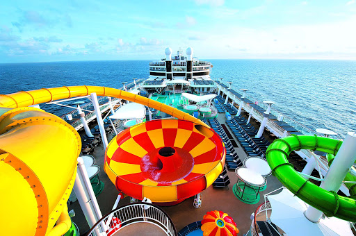In the mood for something wet and wild? Take the Epic Plunge on Norwegian Epic and plunge down a 200-foot-long bowl slide.