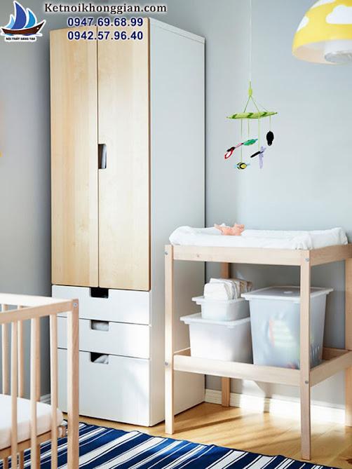 vị trí đặt tủ đồ cho bé