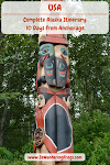 #Alaska #Itinerary 10 Days // #Totem Pole in Anchorage Native Heritage Center