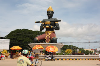Photo: Year 2 Day 40 - Buddha on a Roundabout on the Way into Battambang