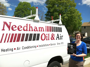 Photo: Needham Oil & Air in Needham, MA with their 25 Year Accreditation Achievement Award plaque