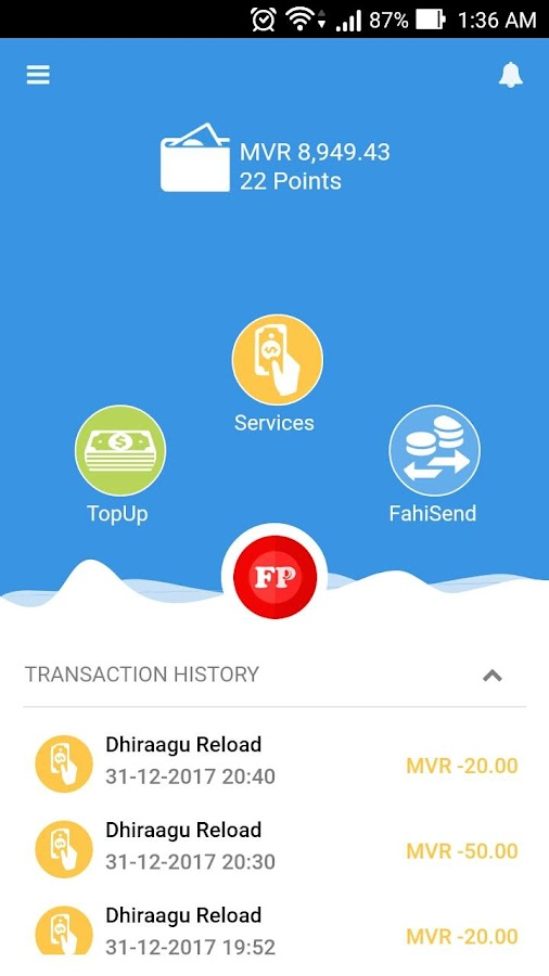 FahiPay- screenshot