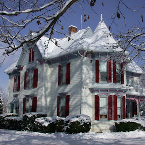 Queen Anne by Gwen Paton - Buildings & Architecture Homes ( countryside, winter, virginia, victorian,  )