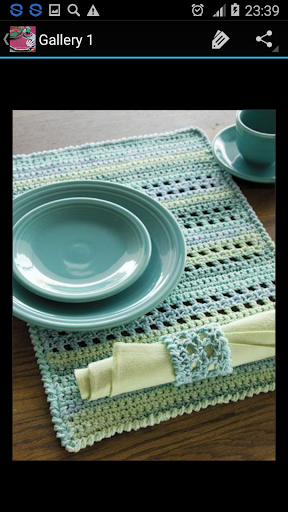 Crochet Kitchen Set Decoration