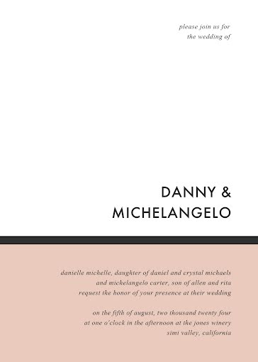 Danny & Angelo's Wedding - Wedding Invitation template