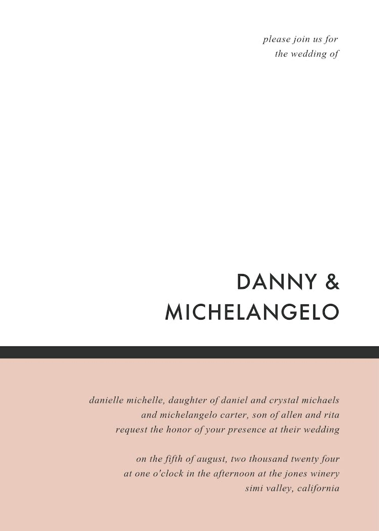 Danny & Angelo's Wedding - Wedding Invitation Template