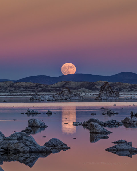 Photo: Super moon rise at Mono Lake, November 2016