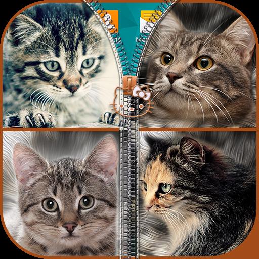 Kitties Zipper Lock