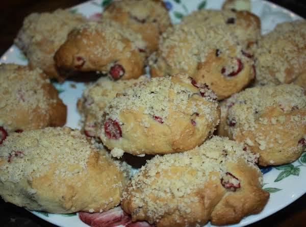 Cranberry Muffin Tops With Strudel Or Orange Glaze