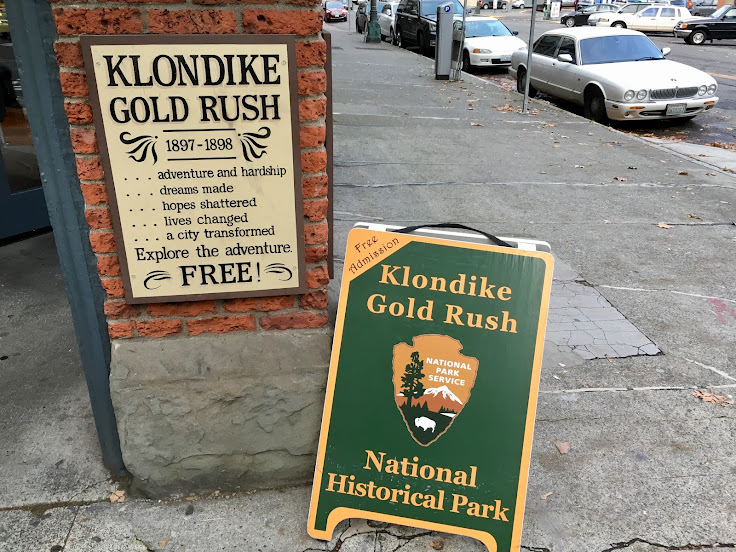 Look for the National Park Service signs for the entrance.