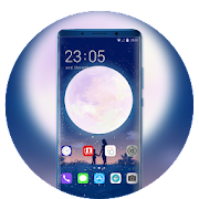 Theme for Mi Band 3 moon family night firefly icon