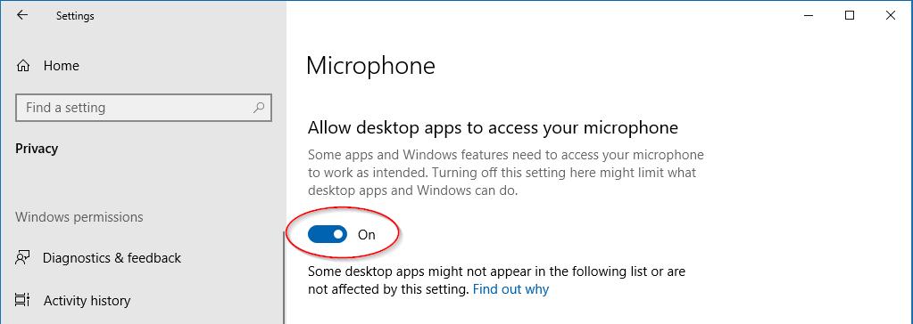 Allow desktop apps option