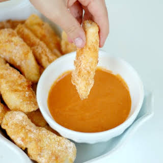 Quick & Easy Gluten Free Fish Sticks with Kid Friendly French Dipping Sauce.