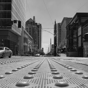 Downtown Salt Lake City  by Mark Lawrence - Black & White Buildings & Architecture