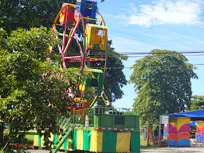 Photo: Festival at Puerto Jimenez -- they stayed for a full week. Carnies in Costa Rica the same as carnies in the US, sitting around drinking beer.