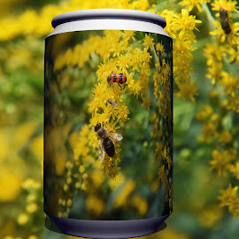 yellow flowers by LADOCKi Elvira - Digital Art Things ( nature, flowers, garden )