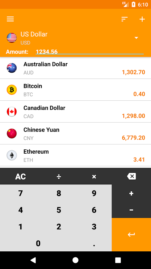 My Currency - Currency Converter- screenshot