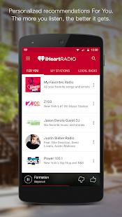 iHeartRadio Free Music & Radio Screenshot 1