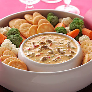 VELVEETA® Spicy Cheeseburger Dip.
