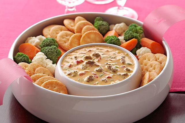 VELVEETA® Spicy Cheeseburger Dip Recipe