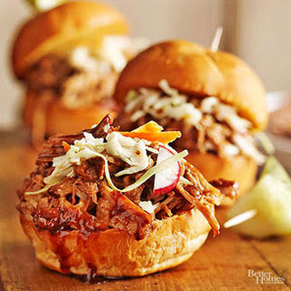 Balsamic Honey Pulled Pork Sliders
