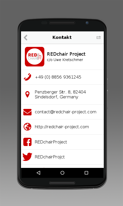 REDchair Project- screenshot