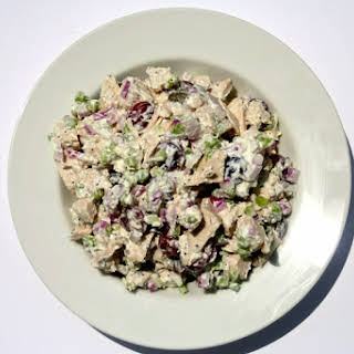 Poached Chicken and Grape Salad.