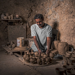 pottery by Valentino Photos - People Portraits of Men ( beaty, work, photos, shadow, gulf, onelight, pottery, nice, bahrain, brown, photo, light, black, photoshop )