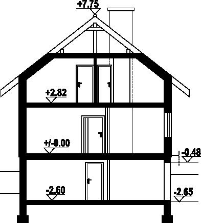 Bartne 19 - Przekrój