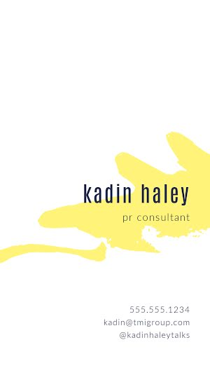Haley PR Consultant Back - Business Card Template