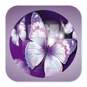 Purple Butterfly Keyboard