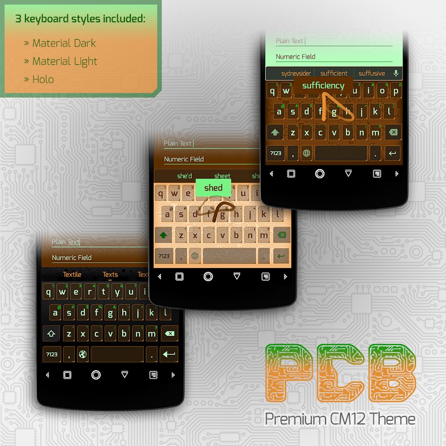 PCB Carrot ⁞ Free CM13 Theme- screenshot