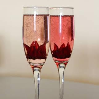 Hibiscus Brunch Cocktail.
