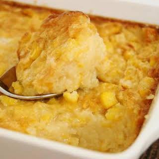 Holiday Baked Corn Pudding.
