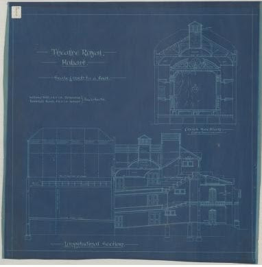 Collection of architectural drawing relating to the Theatre Royal Hobart  Tasmania.