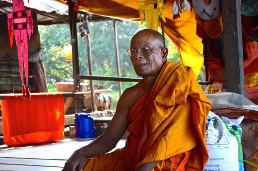 A Buddhist monk in Cambodia.