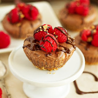 Chocolate Cheesecake Cupcakes with Pretzel Crust.