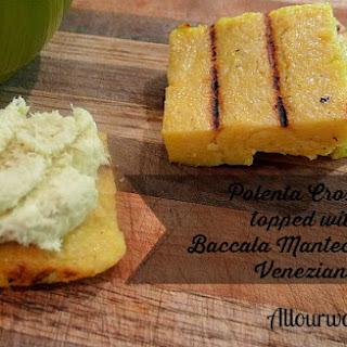 Grilled Polenta Crostini {Crostini di Polenta Abbrustolito}