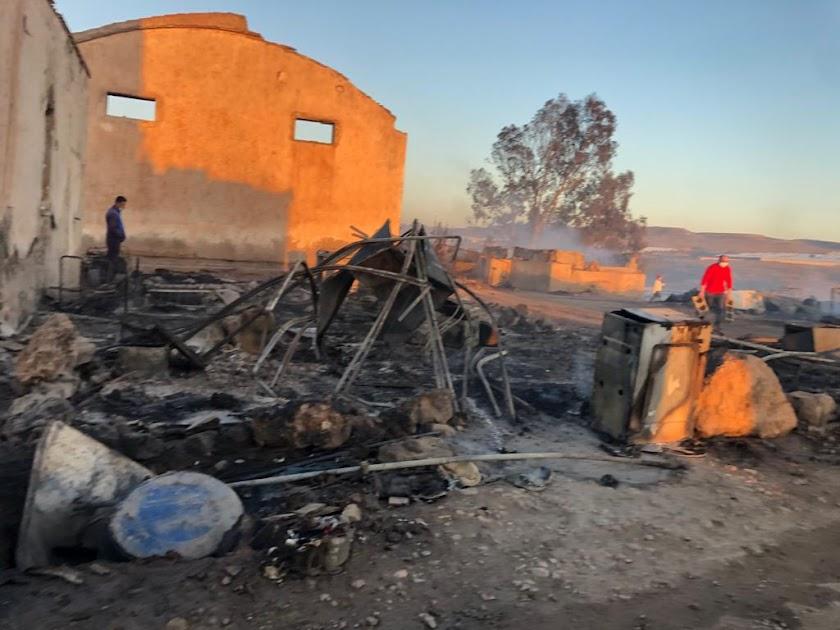 Así ha quedado el poblado chabolista de Níjar tras el incendio