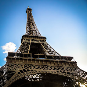 Tour Eiffel - A Sectional View by Jayaananth Gopalaswamy - Buildings & Architecture Public & Historical ( eiffel tower, monuments, old buildings, public places, france, tourist attractions, sight seeing, ancient architecture )