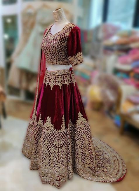 Velvet Lehenga Dress