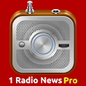 1 Radio News Pro: World Radio icon
