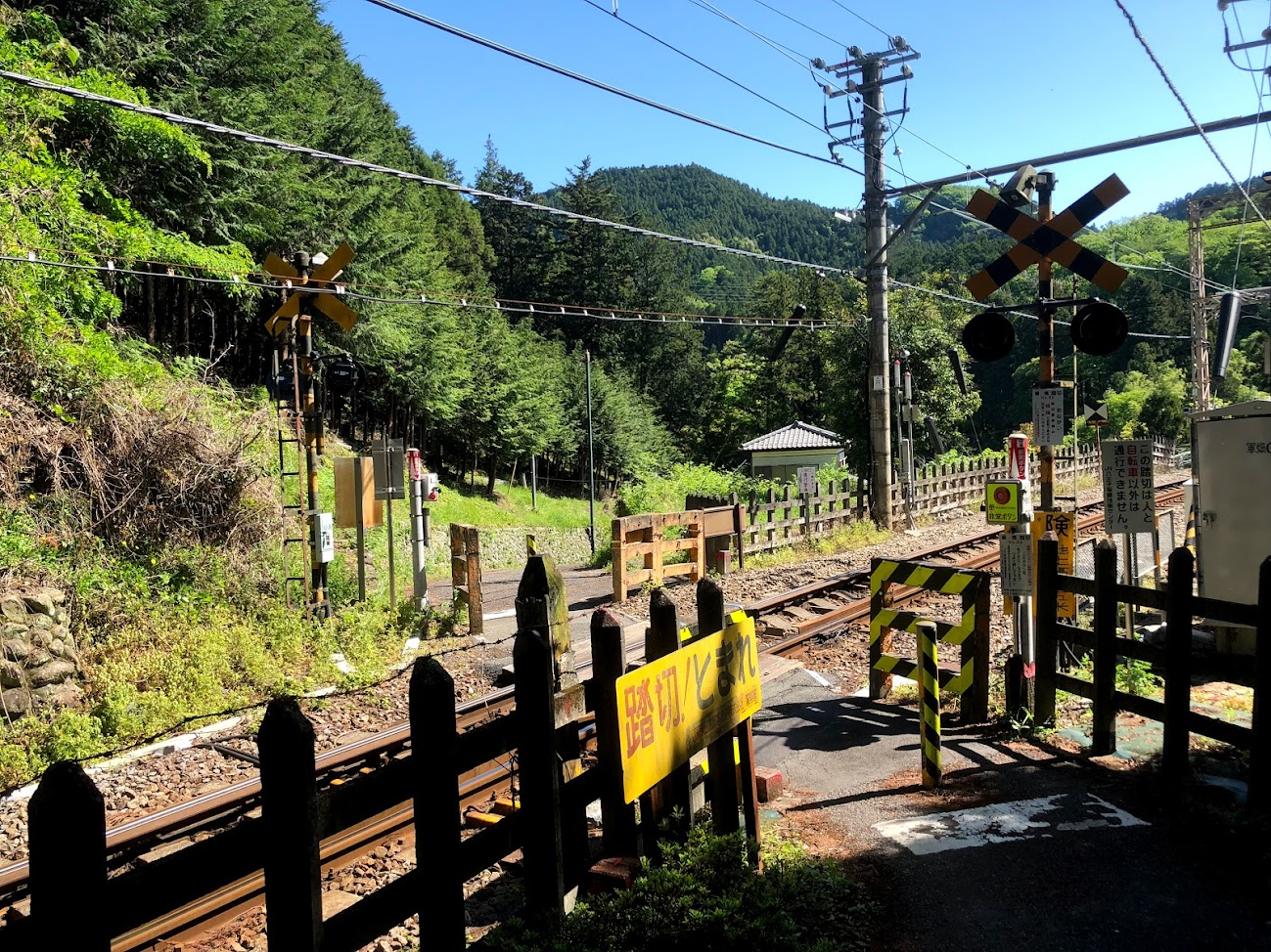 Railway crossing of the Ome Line