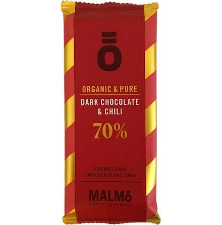 Mörk choklad & chili 70% - Malmö Chokladfabrik