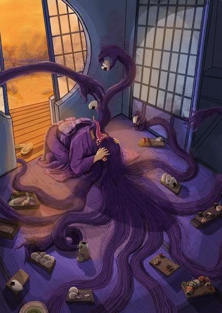 Dado que la Futacuchi-Onna es un espiritu vengativo, este tortura a la mujer recordandole sus crimenes y porque fue castigada de esa forma.